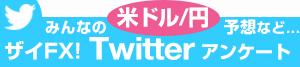 みんなの米ドル/円予想など…ザイFX!Twitterアンケート