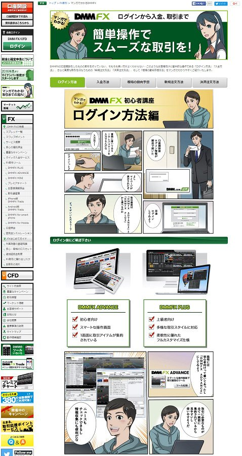 DMM.com証券[DMM FX]の「マンガで分かるDMMFX」